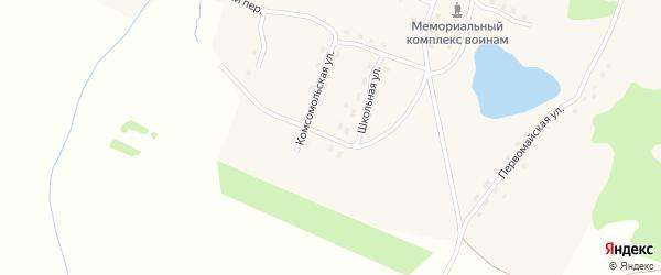 Школьная улица на карте Александровского поселка с номерами домов
