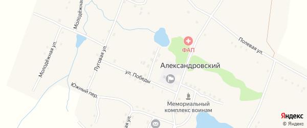 Прудской переулок на карте Александровского поселка с номерами домов