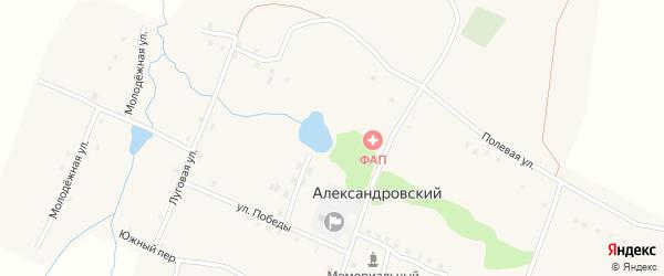 Южный переулок на карте Александровского поселка с номерами домов