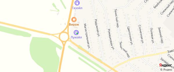 Магистральная улица на карте села Павловска с номерами домов