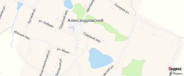 Садовый переулок на карте Александровского поселка с номерами домов