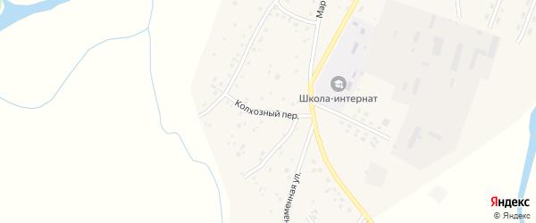 Колхозный переулок на карте села Маралихи с номерами домов
