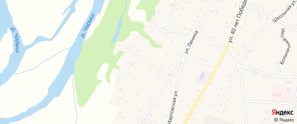 Чарышский переулок на карте села Маралихи с номерами домов