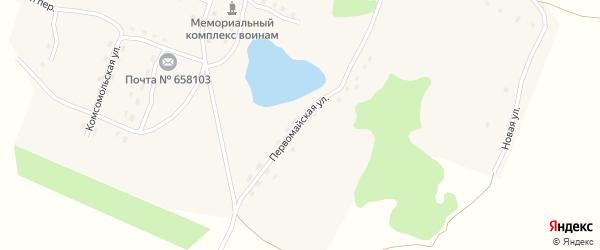 Первомайская улица на карте Александровского поселка с номерами домов