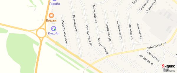 Ромашковая улица на карте села Павловска с номерами домов