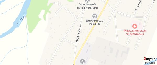 Мартовская улица на карте села Маралихи с номерами домов