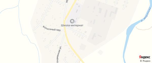 Переулок им А.П.Янголь на карте села Маралихи с номерами домов