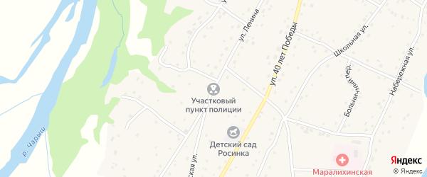 Улица Ленина на карте села Маралихи с номерами домов