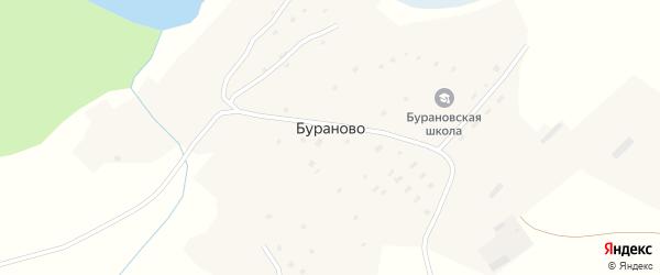 Луговая улица на карте села Бураново с номерами домов