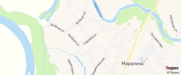 Садовая улица на карте села Маралихи с номерами домов