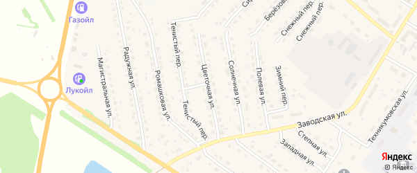 Цветочная улица на карте села Павловска с номерами домов