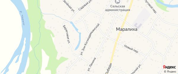 Улица Зои Космодемьянской на карте села Маралихи с номерами домов