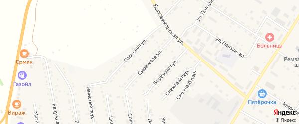 Сиреневая улица на карте села Павловска с номерами домов