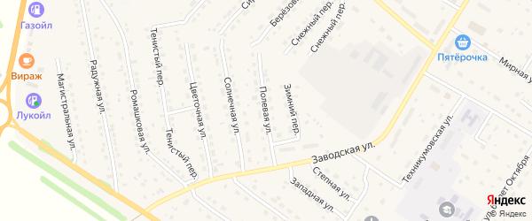 Полевая улица на карте села Павловска с номерами домов