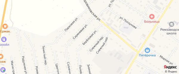 Березовая улица на карте села Павловска с номерами домов