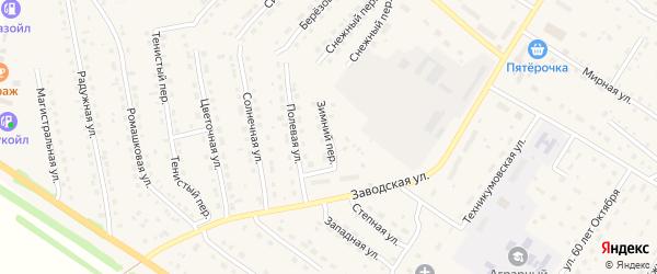 Зимний переулок на карте села Павловска с номерами домов
