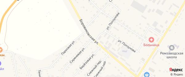 Боровиковская улица на карте села Павловска с номерами домов