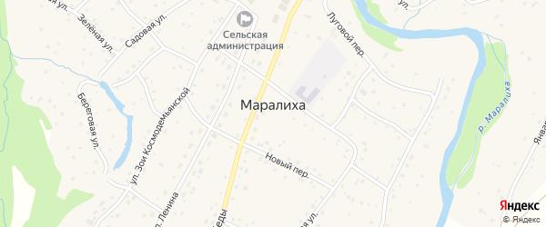 Краснознаменная улица на карте села Маралихи с номерами домов