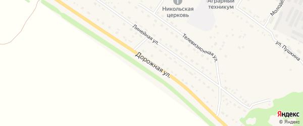 Дорожная улица на карте села Павловска с номерами домов