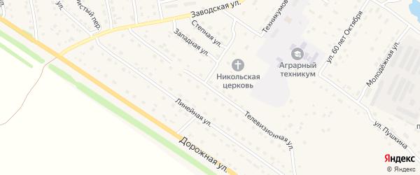Телевизионная улица на карте села Павловска с номерами домов