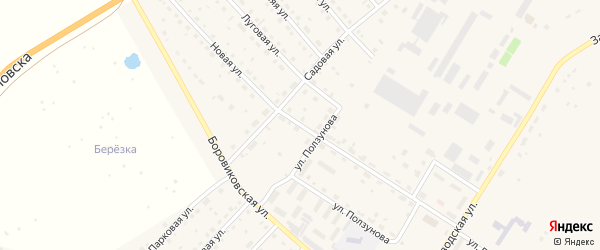 Новая улица на карте села Павловска с номерами домов