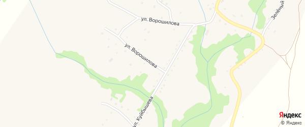 Улица Ворошилова на карте села Березовки с номерами домов
