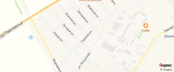 Садовая улица на карте села Павловска с номерами домов