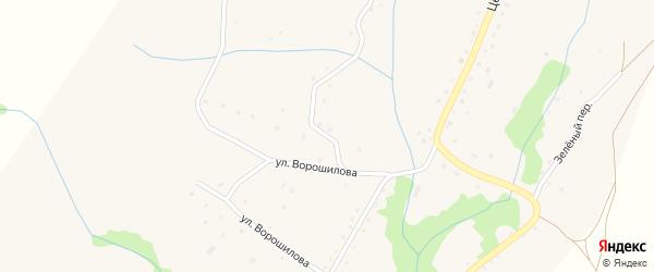 Заводской переулок на карте села Березовки с номерами домов
