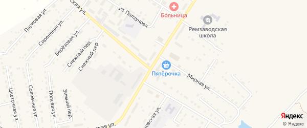 Заводская улица на карте села Павловска с номерами домов