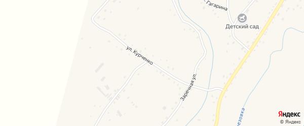 Улица Курченко на карте села Березовки с номерами домов