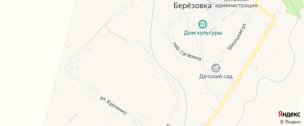 Заречная улица на карте села Березовки с номерами домов