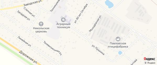 Студенческая улица на карте села Павловска с номерами домов