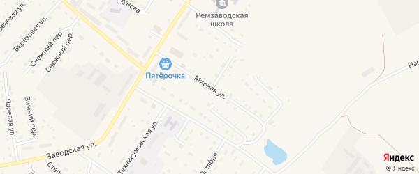Мирная улица на карте села Павловска с номерами домов