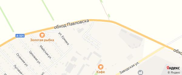 Полярная улица на карте села Павловска с номерами домов