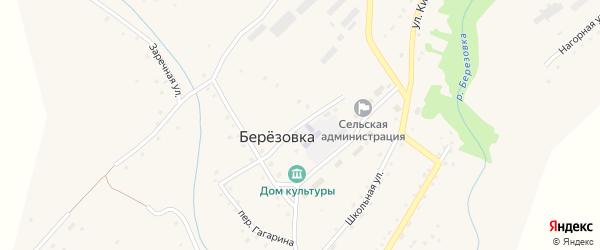 Улица Гагарина на карте села Березовки с номерами домов