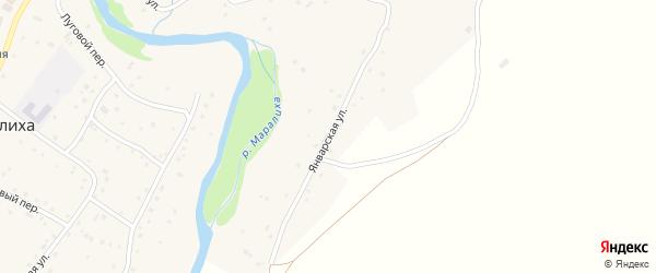 Январская улица на карте села Маралихи с номерами домов