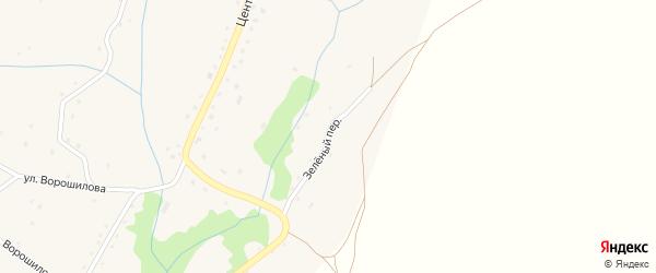 Зеленый переулок на карте села Березовки с номерами домов