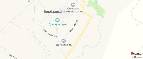 Школьная улица на карте села Березовки с номерами домов