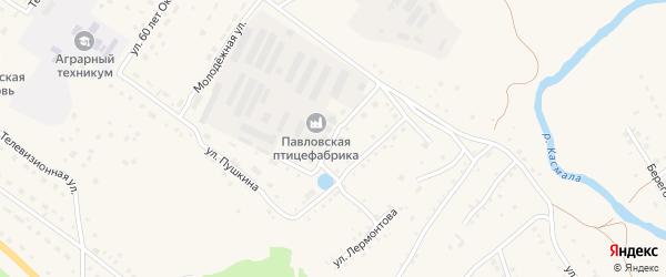 Улица Пушкина на карте села Павловска с номерами домов