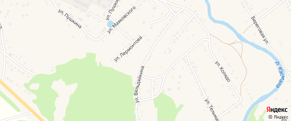 Улица Вельдяйкина на карте села Павловска с номерами домов