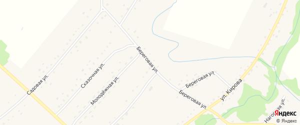 Береговая улица на карте села Березовки с номерами домов