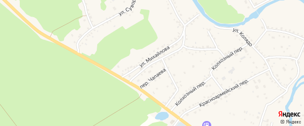 Улица Михайлова на карте села Павловска с номерами домов