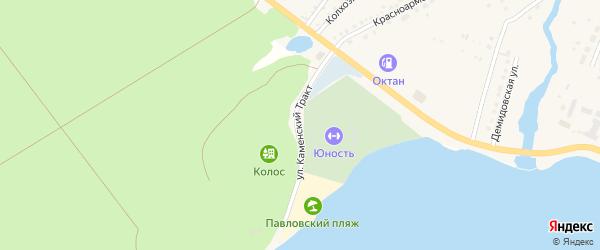 Улица Каменский тракт на карте села Павловска с номерами домов