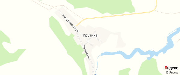 Карта поселка Крутихи в Алтайском крае с улицами и номерами домов