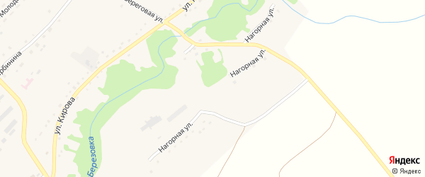 Нагорная улица на карте села Березовки с номерами домов