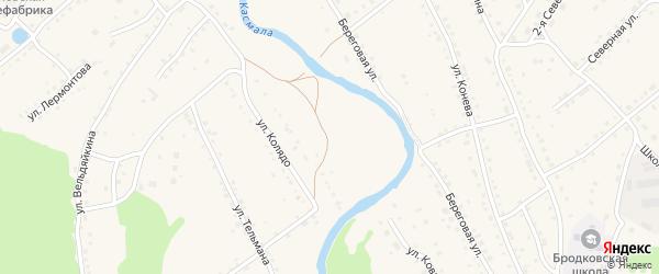 Светлый переулок на карте села Павловска с номерами домов