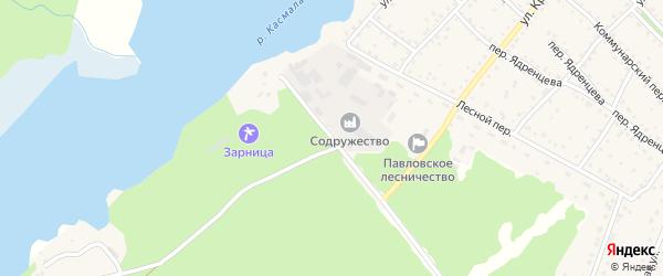 Хвойная улица на карте села Павловска с номерами домов