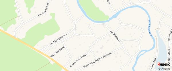 Переулок Скворцова на карте села Павловска с номерами домов