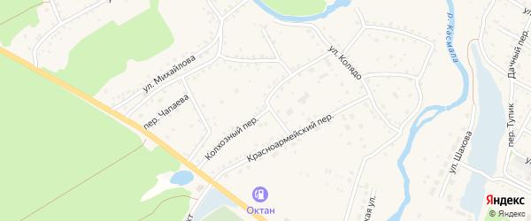 Колхозный переулок на карте села Павловска с номерами домов