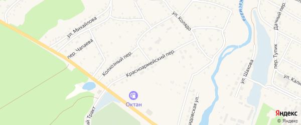 Красноармейский переулок на карте села Павловска с номерами домов